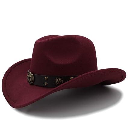 8277ebbb09474 Sombrero Suave para Mujer 100% Lana Sombrero de Vaquero para Hombres  Sombreros Vaquero Western American
