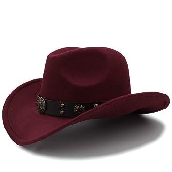 Sombrero Suave para Mujer 100% Lana Sombrero de Vaquero para Hombres  Sombreros Vaquero Western American 4254d96fef55