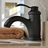 Hiendure?Brass Deck Mounted Single Handle Centerset Bathroom Sink Faucet Lavatory Mixer Tap,oil-rubbed Bronze by Hiendure