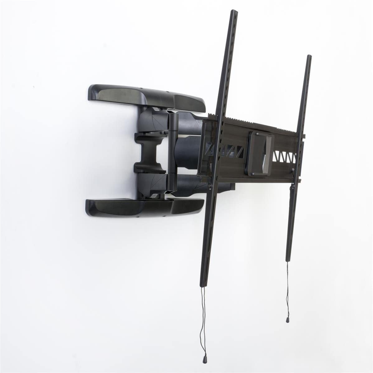 Full Motion TV Mount for Wall Holds a Flat Panel LCD Monitor Between 47 and 84 , Tilting Bracket and Articulating, Panning Arm, VESA-Compatible, Black, Steel