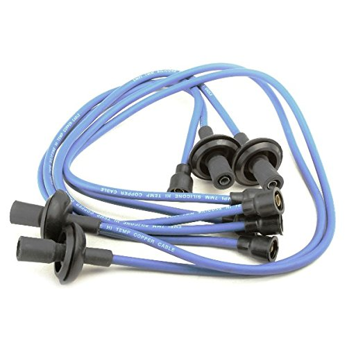 EMPI 9407 VW BUG BAJA SAND RAIL CAR SILICONE IGNITION PLUG WIRE SET, BLUE