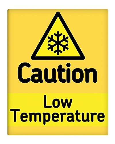 """Berg67Pater Caution Low Temperature Sign Decoration 8"""" x 12"""""""