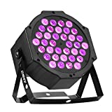 AIHIKO Stage Black Light 36 UV LEDs DJ Up Lighting Controlled by IR Remote and DMX for Halloween Christmas Disco Party Wall Washer and Par Can Lamp