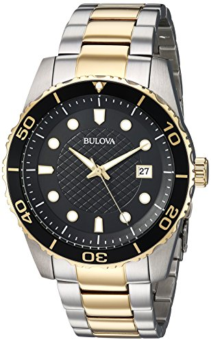 Bulova Men's 98A199 Analog Display Quartz Two Tone Watch