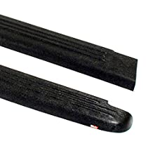 Wade 72-30101 Truck Bed Rail Caps Black Ribbed Finish without Stake Holes for 1999-2007 GMC Sierra 1500 2500 3500 (Classic only) with 8ft bed (Set of 2)