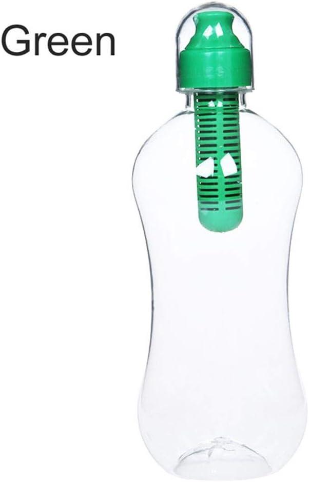 FKYNB 550 ml de Bebida purificador portátil al Aire Libre de la Botella de filtrado de Agua con Filtro Incorporado Botella Deportes acampa yendo de Agua del Recorrido Fitness
