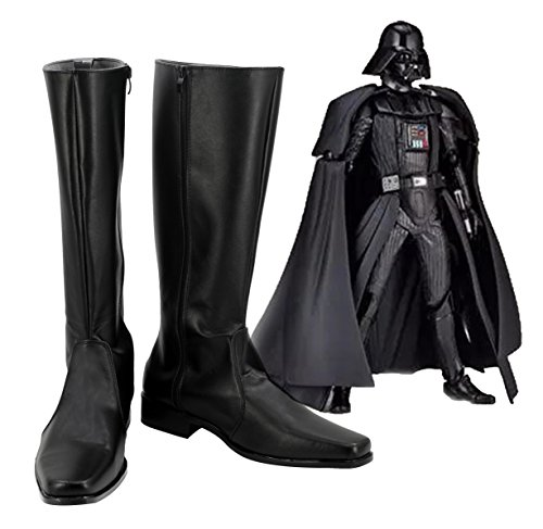 Star Wars Darth Vader Imperial Stormtrooper Dark Troopers Cosplay Shoes Boots Custom Made Black -
