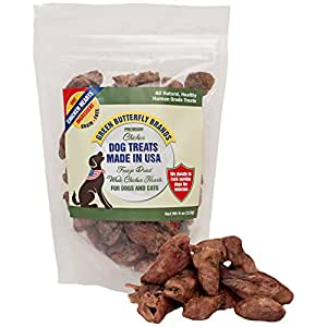 Green Butterfly Brands Freeze Dried Whole Chicken Hearts for Dogs & Cats - One Ingredient Premium Chicken Dog Treats - Made in USA Only – All Natural, Grain Free - No Additives or Preservatives 4oz