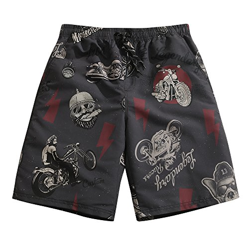 Gang Reverse (Mens Ultra Quick Dry Motorbike Gang Vintage Board Shorts Medium 33-34)