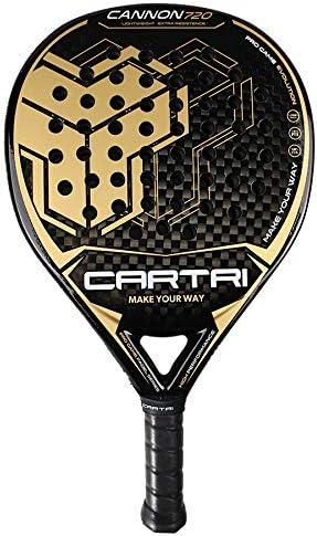 CARTRI Cannon 720 - Pala de Pádel, Unisex, Talla única. Color Negro Oro