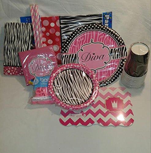 Zebra Diva Birthday Party Pack-
