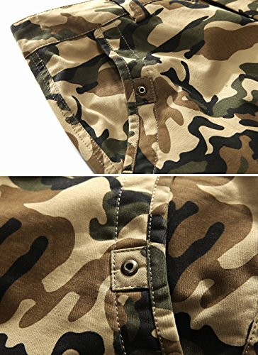 01191e6fd9 Vcansion Men's Cotton Relaxed Fit Summer Beach Casual Twill Multi Pocket  Cargo Shorts Army Green US