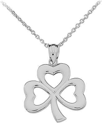 925 Sterling Silver Solid Sterling Silver, Irish lucky Leaf Leaf Irish Shamrocks Pendant Leaf Shamrocks Sterling Silver Necklace