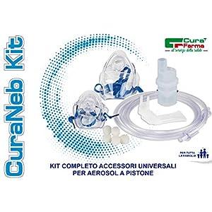 Cura Farma 26240 - CuraNeb Kit de Piezas de Repuesto Universal para Aerosol de Pistón 200 g