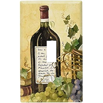 Art Plates - Wine Table Switch Plate - Single Toggle  sc 1 st  Amazon.com & Grapes and Red Wine Decorative Switchplate Cover - Single Switch ...