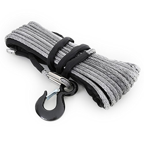 Smittybilt 97712 7/16' x 88' Synthetic Winch Rope - 12000 lbs. Capacity