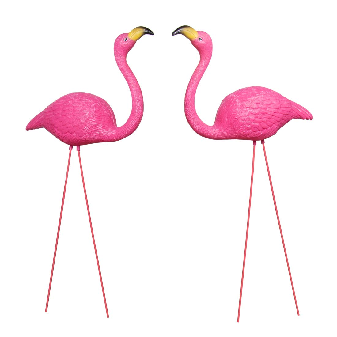 And Bird Pink Flamingo Novelty Yard Lawn Art Garden Ornaments, Garden Flamingo Decor, Adjustable Feet Length, Party Decor Supplier - Pack of 2