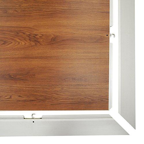 McCourt DF9X9-WO Ovation Indoor/Outdoor Portable Dance Floor, 3' x 3' Panels and Perimeter Trim, 9' x 9', 108'' Width, 108'' Length Windsor Oak