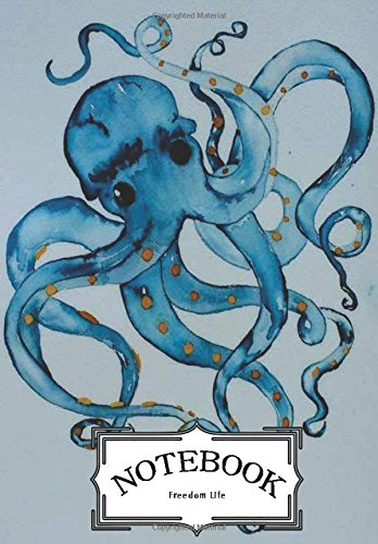 "Read Online Notebook : art watercolor squid: Notebook Journal Diary, 120 Lined pages, 7"" x 10"" pdf epub"