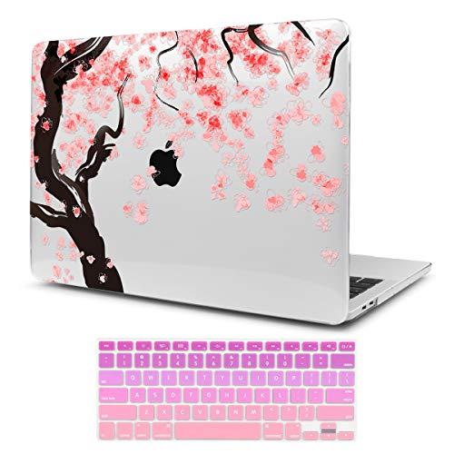 Two L 3D Printing Series Plastic Hard Case & Keyboard Cover for Apple Macbook Air 13-inch 13