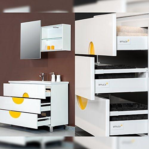 EMUCA 3007912 Lot de 5 Paires coulisses//Glissi/ères /à Galets Extrait Partie pour Tiroir couleur Blanc 450mm