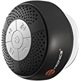 Bluetooth Shower Speaker, TaoTronics Water Resistant  Wireless bluetooth Speaker (Build-in Microphone, Solid Suction Cup, 6 hrs Play Time)