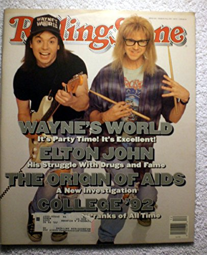 Wayne's World - Wayne & Garth (Mike Myers & Dana Carvey) - Rolling Stone Magazine - #626 - March 19, - Garth Waynes