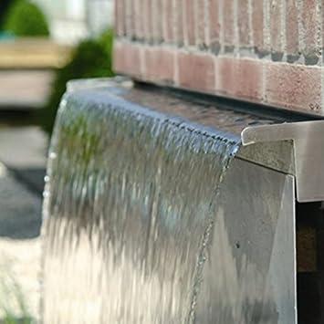 30 Cm Edelstahl Wasser Rinne Mit Doppelzulauf Für Garten Amp