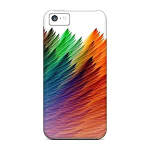 Awesome Design Rainbow Feathers Hard Case Cover For Iphone 5c