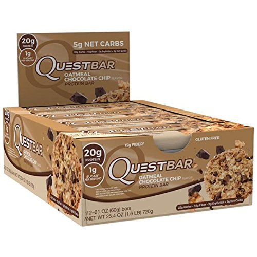 Quest Nutrition Protein Bar, Oatmeal Chocolate Chip, 12 bars - 2.1 oz each