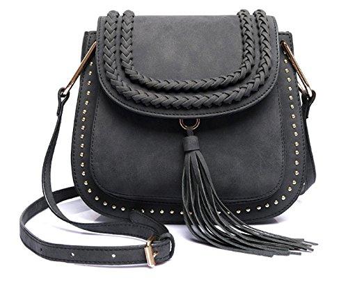 Classic Women Shoulder Bag Luxury Brands Knitting Suede Leather Big Saddle Bag Vintage Female Cover Crossbody Handbags - Luxury Uk Brands