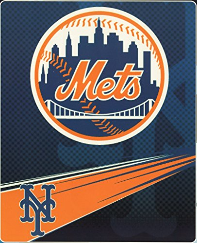 Ny Mets Throw (MLB New York Mets Speed Plush Raschel Throw Blanket, 60x80-Inch)