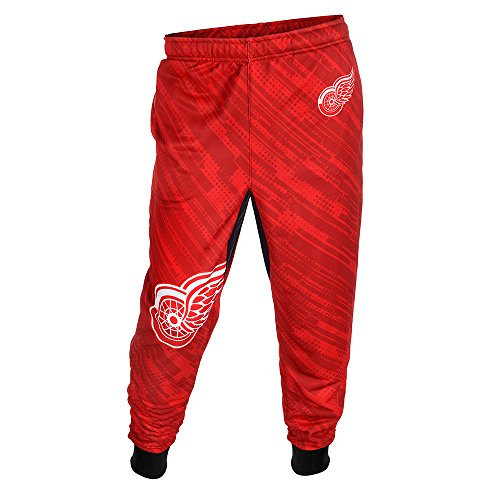 Detroit Red Wings Polyester Mens Jogger Pant Large