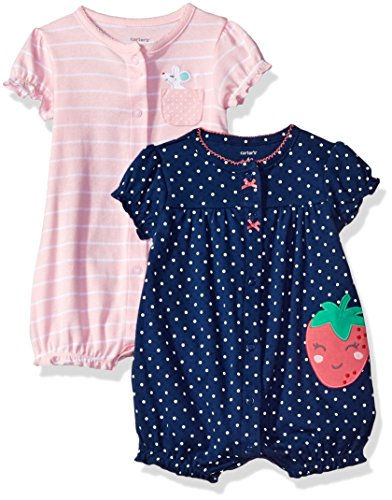 carters-baby-girls-2-pack-snap-up-romper-mouse-strawberry-18-months