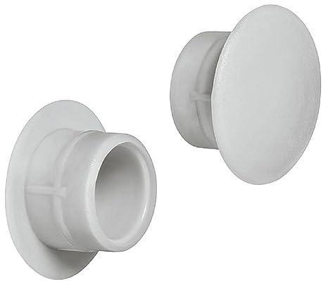 Kappe 100 Stk Montage Abdeckkappe Abdeckung für 10mm Loch Weiß