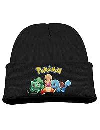 Bulbasaur & Charmander & Squirtle Warm Winter Hat Knit Beanie Skull Cap Cuff Beanie Hat Winter Hats Children
