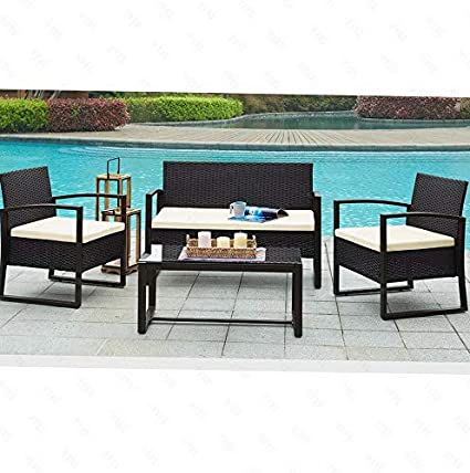 Amazon.com: Hebel Patio Rattan Wicker Furniture Set Garden ...