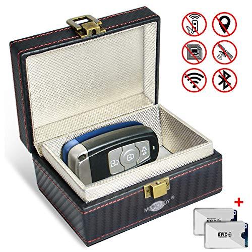 MONOJOY Keyless Car Key Signal Blocker Box, Faraday Box for Car Keys, Anti-Theft Faraday Cage, Key Fob Storage Box…