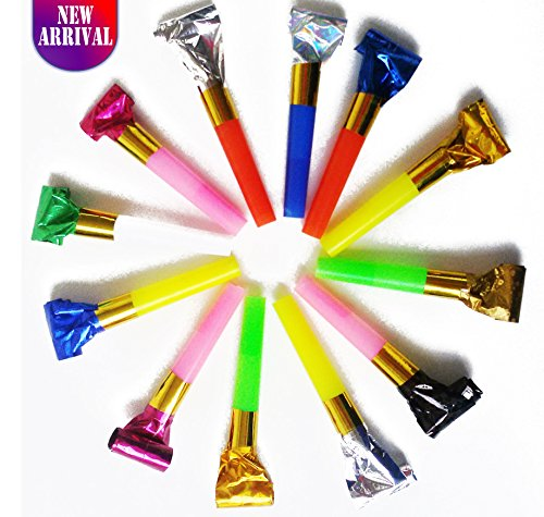 Party Blower: 72 Party Blowers With Noise / DJ Blowers / Squawkers