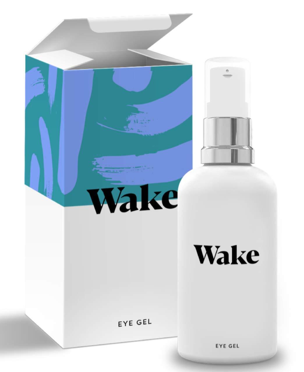 Wake Skincare Eye Gel - Hydrating Eye Serum for Puffy Eyes, Dark Circles, Eye Bags, Crows Feet and Wrinkles – Vitamin E – Collagen - 30ml Anti Ageing ...