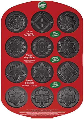 OKSLO 12 cavity nonstick snowflakes cookie pan [1, charcoal]