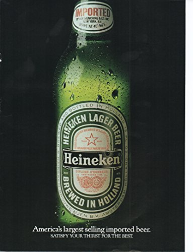 1987-vintage-heineken-beer-magazine-ad-americas-largest-selling-imported-beer-satisfy-your-thirst-fo