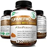 Turmeric Curcumin with Ginger & BioPerine Black Pepper Supplement, (120 CAPSULES) :: Anti-Inflammatory, Antioxidant, Anti Aging :: 100% Natural, Non-GMO, Vegan Best Maximum Potency, No Side Effects