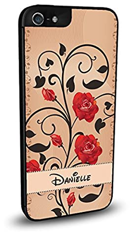 Custom Flowers with Disney Font Cute Personalized Cell Phone Case for iPhone 5/5s, 5c, 6/6s, 6 PLUS, 7, 7 (Disney Cell Phone Cases Iphone 5c)