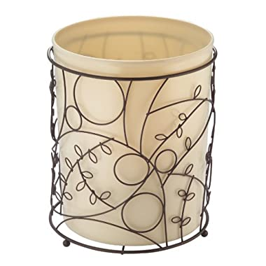 InterDesign Twigz Wastebasket Trash Can - Vanilla/Bronze