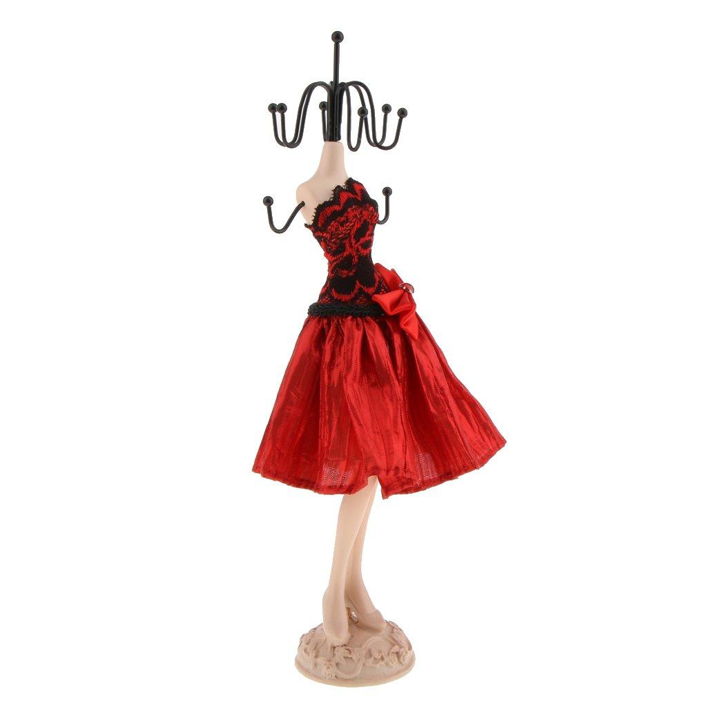 38cm //31cm //27cm sharprepublic Elegante Maniqu/í Organizadores de Joyas para Colgar Anillo Collar Pendientes 27cm Alto