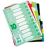 Divisórias Plásticas para Fichário Kit com 10 divisórias