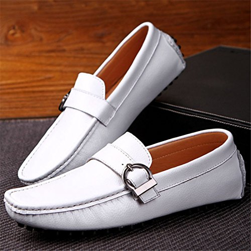 Driving On Loafers White Classic Mens XGX Soft Moccasins 669 Shoes Casual Slip Eqtxw0