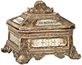 Kensington Hill Florentine Antique Gold Mirrored Jewelry Box