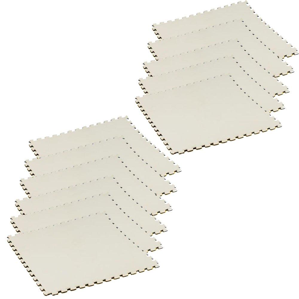 ボディメーカー(BODYMAKER) リバーシブルジョイントマット2.0 100×100×2cm ホワイト×ブラック 11枚 B016MDRSCG